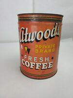 Vintage Atwood's Coffee 2 Pound Can