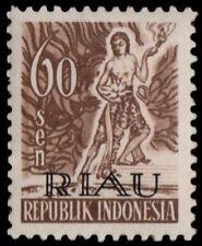 ✔️ INDONESIA 1954 - KSATRIA RIAU OVERPRINT - ZBL. 12 ** MNH OG  [IDR012]