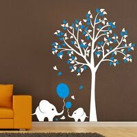 Large Elephant Tree Wall Stickers Kids Nursery Home Wall Decals Art Mural Decor