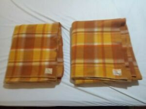 2 X WAVERLEY pure wool Australian made vintage blankets double size -