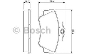 Bosch guarnición frase freno de disco 0 986 460 996 para volvo Saab