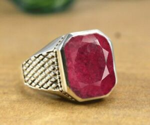 solid 925 silver natural ruby ring for special buyer ring size 7