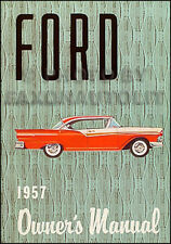 1957 Ford Owners Manual 57 Ranchero Fairlane Sunliner Retractable Custom Courier
