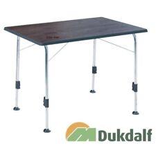 Dukdalf Camingtisch Stabilic Alutisch Tisch Klapptisch 100 x 70 mit Holzdekor