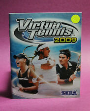 INSTRUCTION BOOKLET/MANUAL ONLY FOR VIRTUA TENNIS 2009 PS3 (NO GAME) ⭐OZ SELLER⭐