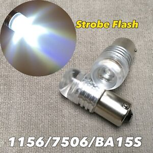 STROBE FLASH 6000K WHITE 1156 BA15S 1141 3497 SMD LED Reverse Backup Bulb W1 J