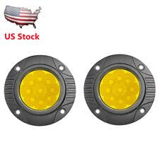 "2X5"" Amber Flush Mount LED Work Light Pods Flood Driving Fog Lamp SUV Offroad US"
