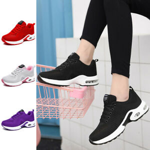 Women's Breathable Sneakers Outdoor Sports Running Casual Athletic Shoes Lace Up