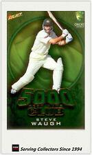 2009-10 Select Cricket Trading Cards 5000 TEST RUNS TR3 Steve Waugh
