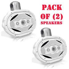 Pair of New! Lanzar AQWB69W 300 Watt 6'' x 9'' 4-Way Wake Board Speakers White