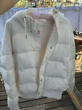 b+ab BCX white puffa jacket UK 14 (42) with hoodie hat