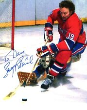 LARRY ROBINSON HAND SIGNED 8x10 COLOR PHOTO+COA    MONTREAL CANADIENS    TO DAVE