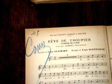 rêve de troupier chanson militaire par Albens partition chant 1901 Gueteville