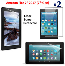 "2 X Clear HD Screen Protector Guard Cover For Amazon Fire 7""(7th Gen) 2017"