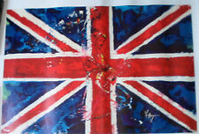 KAT Windmill Limited Edition Giclee on Canvas Hand Signed  Signed  COA  UK  Flag