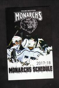 Manchester Monarchs--2017-18 Pocket Schedule--Bud Light--ECHL--Kings Affiliate