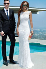 White ivory Wedding dress Bridal Gown custom size 4 6 8 10 12 14 16