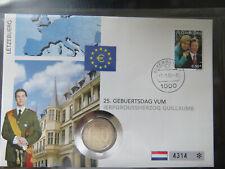 Numisbriefe 2€  25.  Geburstag Grossherzog Guillaume