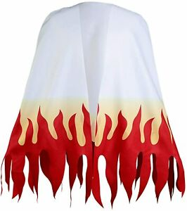YANVS Rengoku Kyoujurou Cloak Mantle Halloween Cosplay Costume Carnival White Ro
