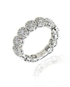 Damiani 18k White Gold Diamond 0.57ct Ring Sz 7 20008953 MSRP $8500