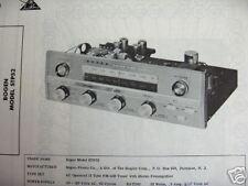 DAVID BOGEN STP52 TUNER RECEIVER PHOTOFACT