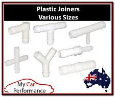 Plastic Joiner Barb Connector Pipe Hose Tubing Fittings Air Fuel Water Petrol