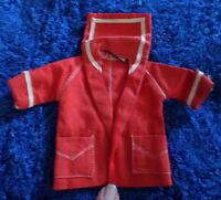 Vintage 1959 Barbie Midge Orig Tagged Red Jacket Resort Set #963~VGC