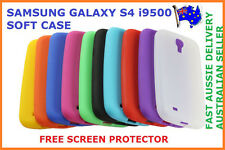SILICON RUBBER SOFT COVER CASE FOR SAMSUNG GALAXY S4 IV i9500 BRAND NEW FREE SP