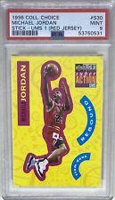 1996 Collector's Choice Stick-Ums 1 #S30 Michael Jordan HOF Red Jersey PSA 9