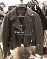 Rare_NWT ZARA AW17 GENUINE LEATHER ZIPS JACKET BIKER JACKET 3461/201_XS M L XL