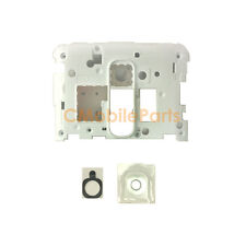 White Plate Rear Camera Frame Lens Cover Replacement for LG Optimus G2 D800