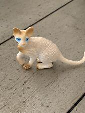 "Cornish Rex or Hairless Sphinx cat Figurine Miniature Small Pvc Toy 1.25x2"""