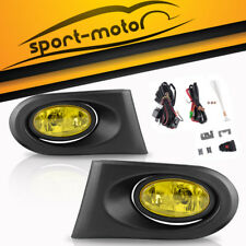 for 2002 2003 2004 Acura RSX DC5 JDM Yellow Bumper Fog Lights w/ Wiring & Switch