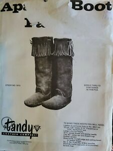 Vintage Apache Boot Pattern 1970 pattern # 1910 Tandy Leather Company NEW UNCUT
