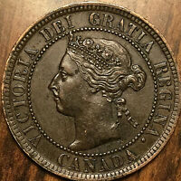 1899 CANADA LARGE CENT LARGE 1 CENT PENNY - Fantastic example! Dp 9?