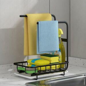 Kitchen Sink Organizer Rack Dishcloth Holder Hanger Sponge Brush Drainer Rack