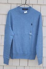 $125 Polo Ralph Lauren Crew Neck Cashmere Blend Knit Sweater Size M