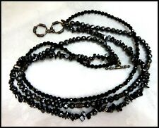 SILPADA Sterling Silver Multi Strand Black Onyx & Hematite Necklace - Retired