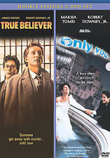 True Believer & Only You New Dvd Double Feature James Wood Robert Downey Jr