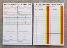 Football Soccer Referee Match Report Sheet -Score Card x 50 cards Pad