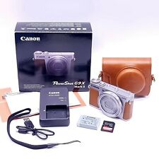 Canon PowerShot G9 X Mark II 20.1MP Digital Camera - Silver LNIB +64GB SD & Case