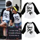 Organic Toddler Kids Boy Girl Long Sleeve Tops T-shirt Tees Clothes 1-6Y