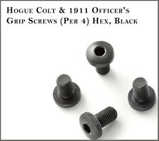 Hogue Colt 1911 Officer's Grip Screws (Per 4) Hex, Black Fits: Government Model