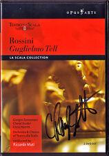 2DVD Cheryl STUDER Signed ROSSINI GUGLIELMO TELL Giorgio Zancanaro RICCARDO MUTI
