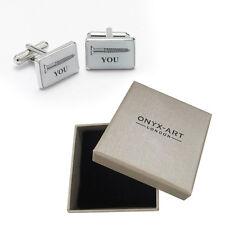 Mens Screw You Joke Novelty Cufflinks & Gift Box By Onyx Art