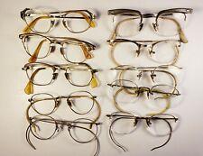 Lot of 10 gold-filled vintage eyeglasses.  All marked 1/10 12KGF.  Scrap gold.