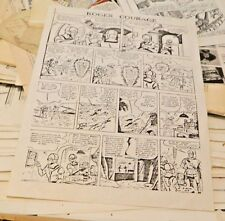 Vintage Copy Of  Sunday Comic Roger Courage (Buck Rogers) B/W  USED (French?)