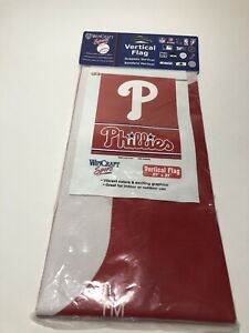 "PHILADELPHIA PHILLIES 27"" x 37"" Wincraft Vertical Flag Banner"