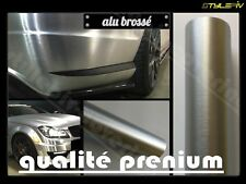 Film covering alu brossé qualité 3M 150x30 cm vinyle thermoformable adhesif