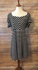 Torrid Plus Size 2 striped skater dress black/white stripe Short Sleeve Plus Sz